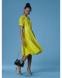 848d557894c Diane von Furstenberg Colorblock Bias-cut Silk Midi Dress in Black ...