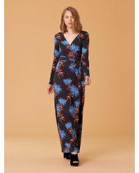 b7d1e7e76a0b Lyst - Diane von Furstenberg New Julian Two Silk Jersey Wrap Dress ...