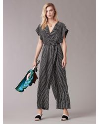 Diane von Furstenberg | Printed Silk Jumpsuit | Lyst
