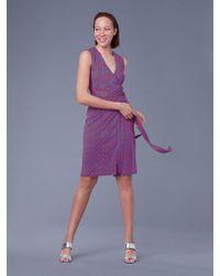 Diane von Furstenberg - The Dvf Sleeveless Yahzi Silk Jersey Wrap Dress - Lyst