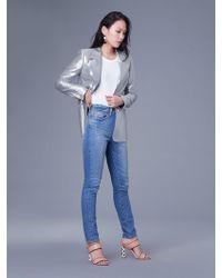 Diane von Furstenberg - Long Sleeve Metallic Blazer - Lyst
