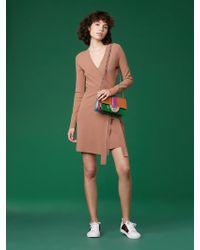 Diane von Furstenberg - Long-sleeve V-neck Knit Wrap Dress - Lyst