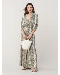 9a20dc4eac258 Lyst - Diane von Furstenberg Abigail Silk Jersey Wrap Dress in Blue