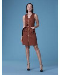 Diane von Furstenberg - Sleeveless Zip Front Dress - Lyst