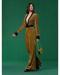 Diane von Furstenberg - Long-sleeve Velvet Sash Jumpsuit - Lyst