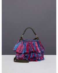 Diane von Furstenberg - Raffia Fringe Bucket Bag - Lyst