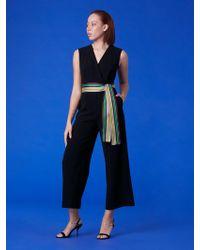 Diane von Furstenberg - Sleeveless Crossover Jumpsuit - Lyst