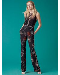 Diane von Furstenberg - Sleeveless Tailored Jumpsuit - Lyst
