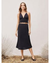 6f51ba462d Diane von Furstenberg - Tvf Lilac Crepe Midi Skirt - Lyst