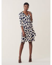 c1b307a6 Diane von Furstenberg Julian Lace Wrap Dress in Blue - Lyst
