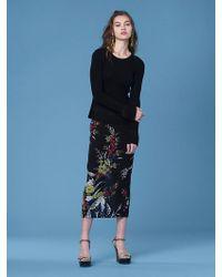 Diane von Furstenberg - Long-sleeve Peplum Top - Lyst