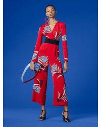 Diane von Furstenberg   Long-sleeve Cross Over Jumpsuit   Lyst