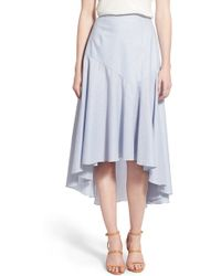 Chelsea28 Nordstrom | Drape Poplin Midi Skirt | Lyst