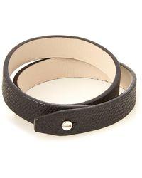 Valextra - Wraparound Leather Bracelet - Lyst