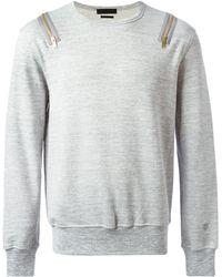Alexander McQueen Zip Detailed Sweatshirt - Lyst
