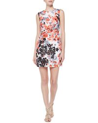RED Valentino Abstract Floral-print Dress - Lyst