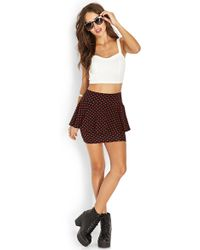 Forever 21 Connect The Dots Peplum Skirt - Lyst