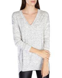 Karen Millen   V-neck Knit Tunic   Lyst