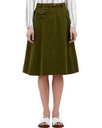 Sea Twill A-Line Skirt - Lyst