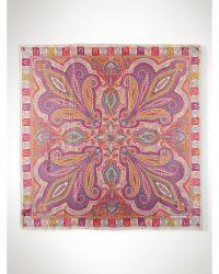 Ralph Lauren Abstract Floral Silk Scarf - Lyst
