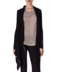Rick Owens Long-Sleeve Wrapped Long Cardigan - Lyst