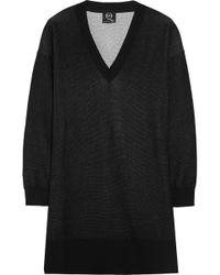 McQ by Alexander McQueen Cotton-Jersey Sweater Dress - Lyst