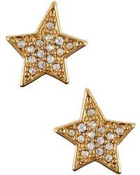 Kate Spade Pave Star Stud Earrings - Lyst