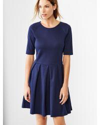 Gap Raglan Fit  Flare Knit Dress - Lyst