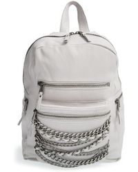 Ash - 'small Domino' Chain Leather Backpack - Lyst