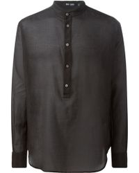 BLK DNM Mandarin Collar Shirt - Lyst