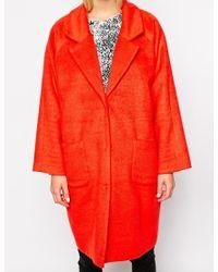 Monki Oversized Cocoon Coat - Lyst