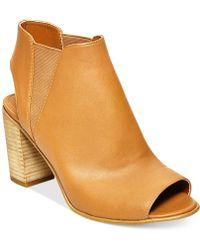 Steve Madden Women'S Nobel Block Heel Sandals brown - Lyst