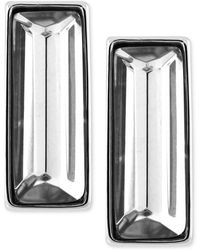 Vince Camuto - Silvertone Crystal Stone Rectangle Stud Earrings - Lyst