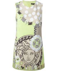 Versace Medusa-Print Cotton-Blend Dress - Lyst