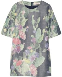 Matthew Williamson Printed Cotton and Silk-blend Mini Dress - Lyst
