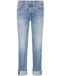 7 For All Mankind Relaxed Skinny Girlfriend Jeans - Lyst