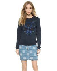 Kenzo Tiger Pullover Sweatshirt - Navy - Lyst