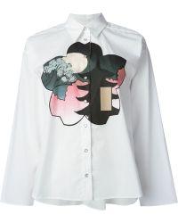 Mm6 By Maison Martin Margiela Shiro Print Shirt - Lyst