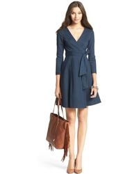 Diane Von Furstenberg Christa Denim Wrap Dress - Lyst