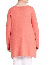 Eileen Fisher | Linen & Cotton Sweater | Lyst