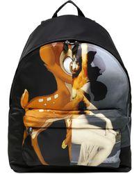 Givenchy - Bambi Female Form Print Nylon Backpack - Lyst