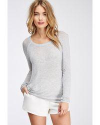 Love 21 Slub Knit Sweater - Lyst