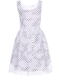 Carven Print and Lace Overlay Dress - Lyst