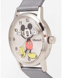 Disney - Silver Mickey Mouse Watch - Lyst