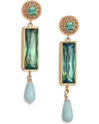 House Of Lavande Talisman Amazonite & Crystal Drop Earrings green - Lyst