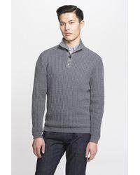 Ferragamo Textured Knit Virgin Wool Pullover gray - Lyst