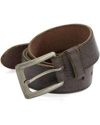 John Varvatos Canvas Leather Belt brown - Lyst