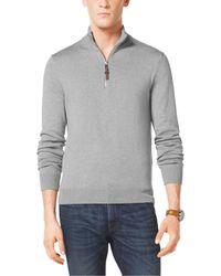 Michael Kors Half-Zip Cotton Pullover - Lyst
