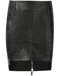 Strateas Carlucci - Zip Detail Mini Skirt - Lyst