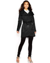 BCBGeneration Quilted-Detail Belted Trench Coat - Lyst